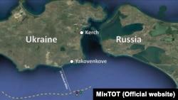 Керченский кризис. Карта
