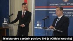 Srpski šef diplomatije Ivica Dačić i ministar spoljnih poslova i spoljne trgovine Mađarske Peter Sijarto