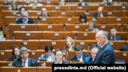 Igor Dodon la APCE, Strasbourg, 29 ianuarie 2020