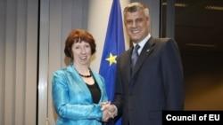 Catherine Ashton, Hashim Thaci, Bruksel, nentor, 2012