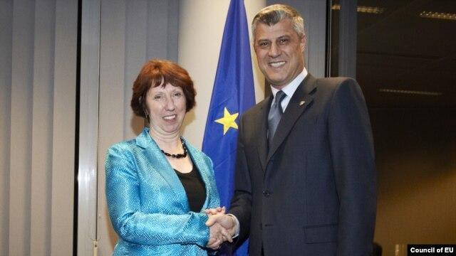 Kosovski premijer i visoka predstavnica EU za spoljnu politiku i bezbednost Ketrin Ešton u Briselu, novembar 2012
