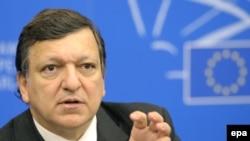 Франція - Прес-конференція Голови Європейської Комісії Жозе Мануеля Баррозу відразу після закінчення пленарного засіданні парламенту ЄС у Страсбурзі, 14 січня 2009 р.