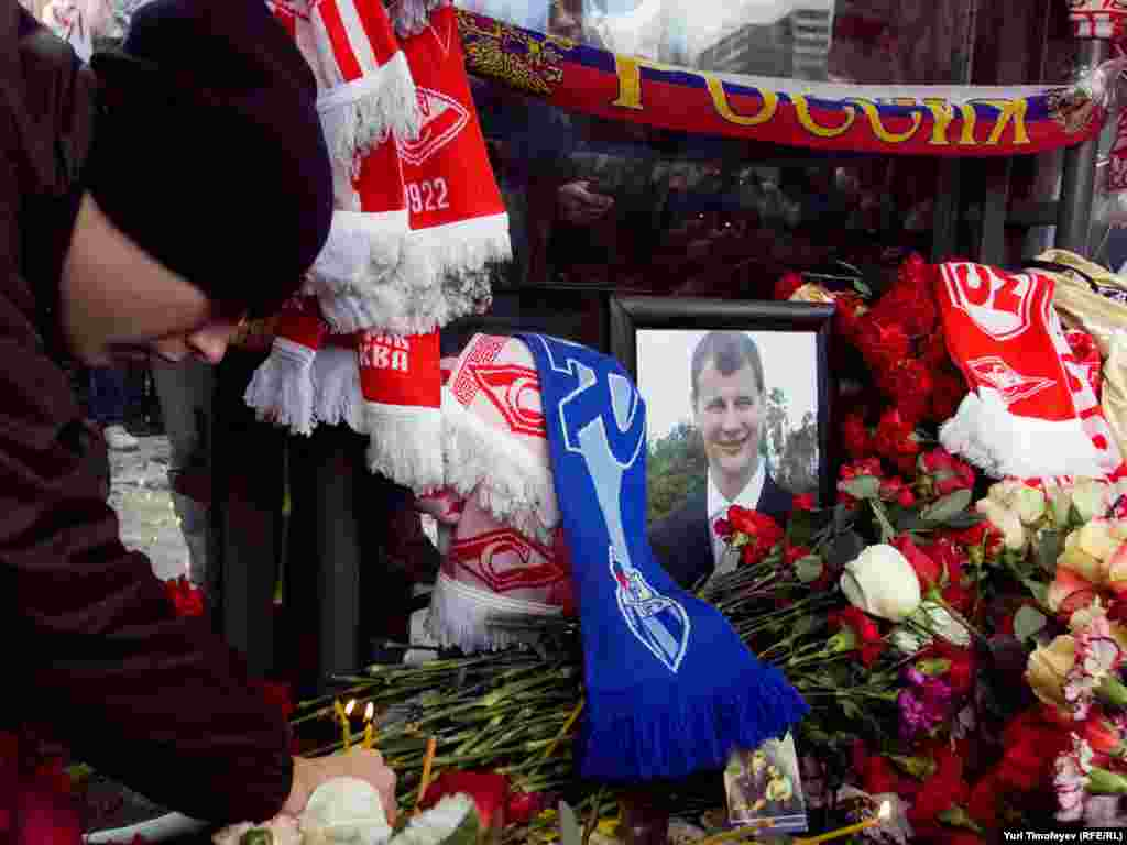 Sviridov, a member of a radical Spartak fan group, was reportedly shot during an interracial brawl.