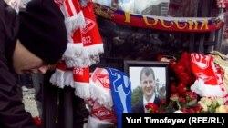 Акция памяти на месте убийства Егора Свиридова, 11 декабря 2010