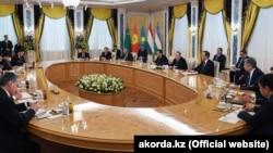 Встреча лидеров стран Центральной Азии в Астане. 15 марта 2018 года.