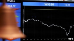 شاخص سهام در بازار های مالی با سقوط ارزش مواجه شد. عکس از: EPA