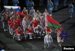 Андрэй Фомачкін нёс расейскі сьцяг на адкрыцьці Паралімпіяды ў Рыё-дэ-Жанэйра