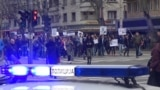Students marched in Serbia's capital