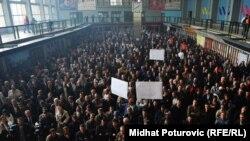 Protest u Željeznicama Federacije BiH, oktobar 2011.