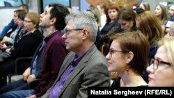 Inaugurarea Centrului Goethe - scriitorii Iulian Ciocan și Vitalie Ciobanu în public, Chișinău , 5 martie 2020