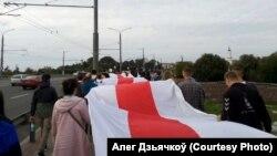 MInsk: protest antiprezidențial, 16 august 2020