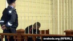 Дзьмітры Лукашэвіч, падчас суду 8 студзеня 2015 году