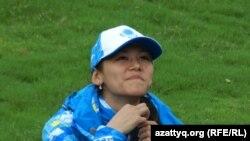 Алуа Балкыбекова, боксер из Казахстана, участница летних юношеских Олимпийских игр в Нанкине. 14 августа 2014 года.
