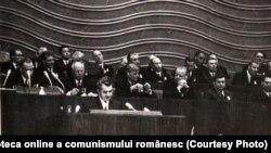 Ceaușescu a făcut multe vizite la Moscova pentru ajutor sau în semn de respect. În imagine, vorbește cu prilejul centenarului Lenin.(20 aprilie 1970). În decembrie 1989 era pentru ultima dată la Kremlin. Sursa: Fototeca online a comunismului românesc; cota:18/1970