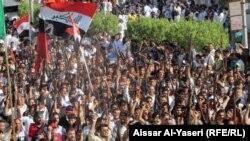 عشائر النجف تتظاهر دعماً للجيش العراقي