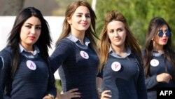 Деякі кандидати на конкурс міс краси в Іраку, 17 грудня 2015 року