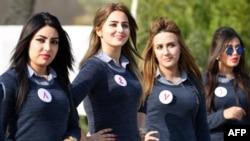 Участницы конкурса красоты в Ираке. 17 декабря 2015 года.
