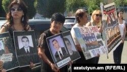 Մարտի 1-ի զոհերի հարազատները բողոքի ակցիա են անցկացնում Երեւանում, 15 սեպտեմբեր, 2011