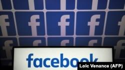 Логотип социальной сети Facebook.