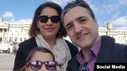 Iran--Dr. Esmaeelioun's wife, Parisa, 42, and nine-year-old daughter, Reera