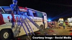 Eighteen people were killed in the deadly Oman crash.