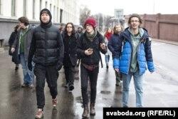 Удзельнікі кампаніі Legalize Belarus