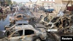 Pamje nga një eksplodim i mëparshëm në Bagdad