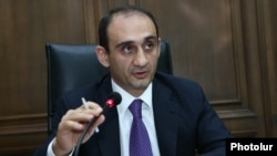Armenia - Vartan Harutiunian, head of the State Revenue Committee, speaks at an Armenian parliament committee in Yerevan, 27Jun2017.