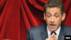 President Nicolas Sarkozy (in file photo) reportedly collapsed while jogging.