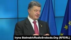 Украина президенті Петр Порошенко. Брюссель, 27 маусым 2014 жыл.