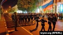 Репетиція військового параду в Сімферополі 5 травня 2017 року