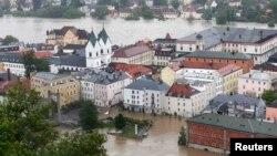 Історичний центр Пассау затоплений, 3 червня 2013 року