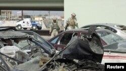 صورة من الأرشيف لموقع هجوم إرهابي في الفلوجة