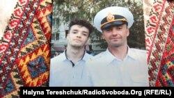 Андрій Оприско із сином