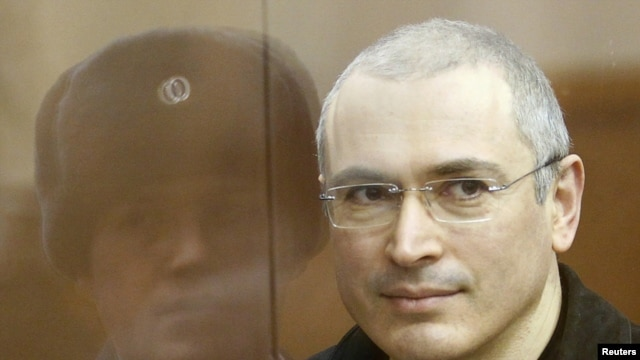 Mikhail Khodorkovsky at his trial