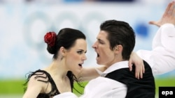 Танцевальный дуэт из Канады, олимпийские чемпионы Тесса Вирту и Скотт Мойр