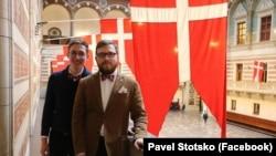 Павел Стацко і Яўген Вайцяхоўскі.