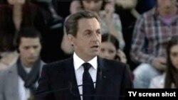 Николя Саркози Тифлиснең Ирек мәйданында чыгыш ясый