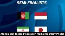 لیست چهار تیم برتر مسابقات فوتسال آسیا