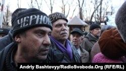 Акция чернобыльцев в Киеве