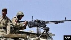 FILE: A Pakistani military check post near Wana.