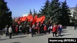 Севастополь, мітинг біля пам'ятника Леніну, 22 квітня 2016 року