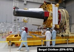 The Spektr-RG telescope equipment at Khimki in April
