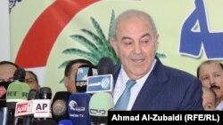 زعيم الوطنية اياد علاوي في المؤتمر الصحفي
