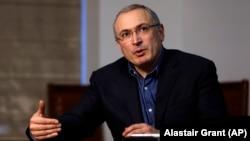 """Основатель движения """"Открытая Россия"""" Михаил Ходорковский. Лондон, 15 февраля 2018 года."""