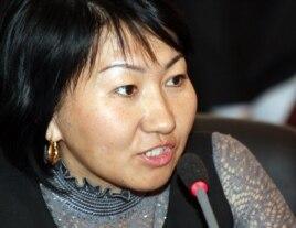Правозащитник Айна Шорманбаева.