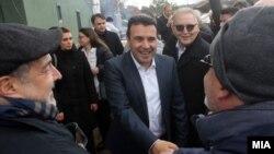 Премиерот Зоран Заев на закројување на лозје по повод Свети ТриФун во Неготино