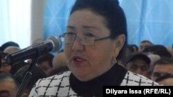 «Олжас Б» іріленген шаруа қожалығының басшысы Набатгүл Байтанаева. Шымкент, 23 желтоқсан 2015 жыл.