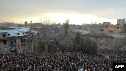 More than 10,000 people rallied against the government in the center of Yerevan on March 1.