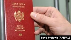 Montenegro - Montenegrin passport, ilustrative photo,11Aug2010.